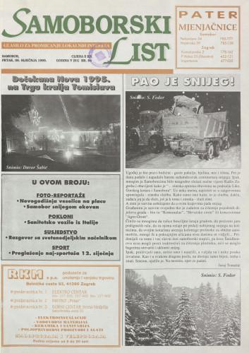 Samoborski list 1995