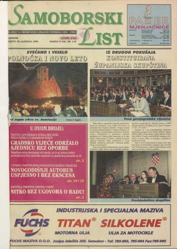 Samoborski list 1996